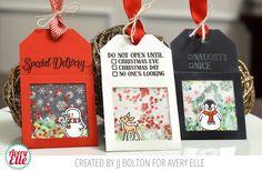 Avery Elle: Christmas gift Shaker Tags | JJ Bolton