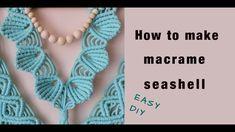Macrame Tutorial, Diy Tutorial, Sea Shells, Easy Diy, Crochet Necklace, The Creator, Instagram, Seashells, Shells