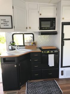 2005 Fleetwood Fifth wheel rv remodel Giani cabinet paint is no joke! I dropped an ENTIRE can of white paint on the black lower cabinets painted with Giani and they cleaned up perfect!