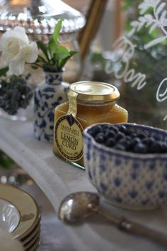 Blueberries and lemon curd...