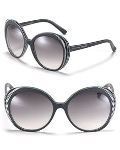 4d46099b7075 Alexander McQueen Round Etched Frame Sunglasses Chanel Sunglasses