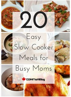 Easy Slow Cooker Meals - A Round Up