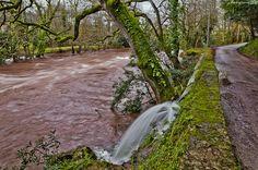 Improvised waterfall. Santa Isabel, Cantabria, Spain.