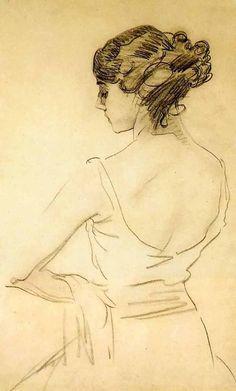 Valentin Serov  Portrait of Tamara Karsavina, 19th century ballerina #AnnaKarenina