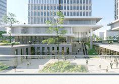 University Architecture, Cultural Architecture, School Architecture, Architecture Design, Mix Use Building, High Building, Condominium Interior, Gate City, City Layout