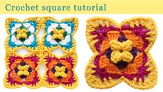 A step by step crochet tutorial to making the square. It has 5 rows, so quick to make and learn by heart. Use for blankets, bags, table mats, clothes...