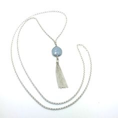 """Magic is a 36"""" Long Sterling Silver Rolo Chain Necklace With a 17 Strand 2""""…"""