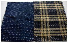 zokins:  vintage japanese cotton sashiko dust cloths