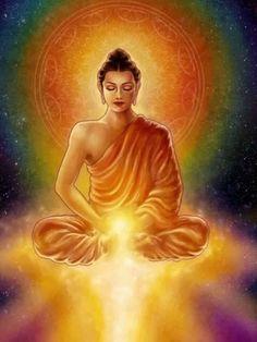 Song Of The Stars Painting by Caroline Jamhour – Yoga Center Lotus Buddha, Art Buddha, Buddha Zen, Buddha Meditation, Meditation Songs, Relaxation Meditation, Gautam Buddha Image, Frases Yoga, Star Painting
