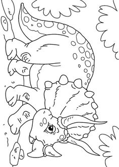 Coloring page dinosaurs - triceratops. Pictures for school and education: Dinosaurs - Triceratops - Coloring picture - Coloring picture - Drawing. Coloring Sheets For Kids, Adult Coloring, Coloring Books, Paper Dinosaur, Dinosaur Crafts, Study Of Dinosaurs, Imprimibles Toy Story Gratis, Dinosaur Posters, Dinosaur Coloring Pages