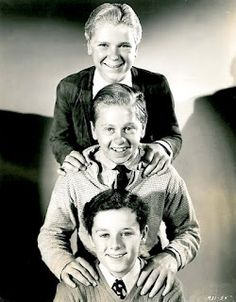 Jackie Cooper (1922-2011), Mickey Rooney sole survivor (b.1920) and Freddie Bartholomew (1924-1992)