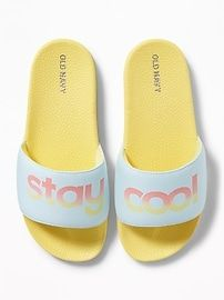 Graphic Pool Slides for Girls | Old