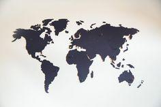 REISJUNK   Deze wereldkaart van hout is een musthave voor elke reiziger