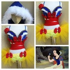 Snow White rave set by Electric Laundry Rave Girls, Edm Girls, Rave Festival, Festival Looks, Princess Lingerie, Yellow Tutu, Rave Gear, Rave Costumes, Edm Outfits
