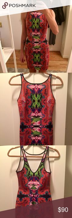 Clover Canyon scuba mini dress Clover Canyon printed mini dress in scuba fabric. Very comfortable. Only worn once Clover Canyon Dresses Mini
