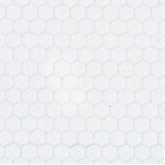 Dollhouse Miniature White Small Hexagon Tile Sheet Houseworks, Ltd.