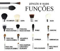 Pincéis de maquiagem e suas funções