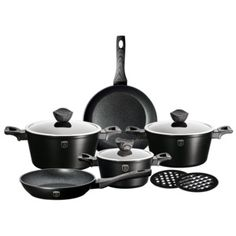 Berlinger Haus Marble Coating Ebony Rose Wood Line Cookware Set in the Cookware Sets category was sold for on 9 Nov at by BARGAIN DEPOT in Durban Wooden Pattern, Cookware Set, Black Kitchens, Minimal Design, Marble, Gray, Bakeware, Collection, Big