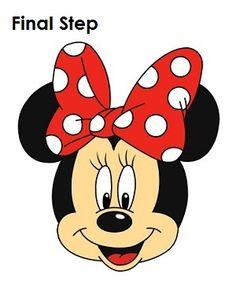 Draw Minnie Mouse Final Step