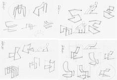 croquis design - Steel Tube Bending la chaise tube par Thomas Feichtner