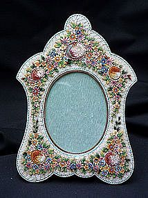 An Italian Micro Mosaic Picture Frame