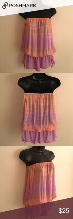 🌟NEW MARK DOWN🌟 Tiare Hawaii Tie Dye Romper Tiare Hawaii Peach and Violet Deep Sea Shanghai Jumpsuit. The Perfect Summer Romper or Swimsuit Coverup. One Size Fits All. In Excellent Condition! Price is Negotiable! Tiare Hawaii Swim Coverups