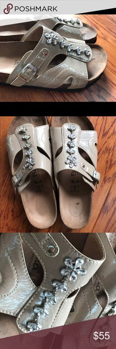 Betula by Birkenstock GUC bejeweled 8 GUC Great condition just a couple spots on the foot bed. Smoke and pet free home. Bundle discount 20% Birkenstock Shoes Sandals