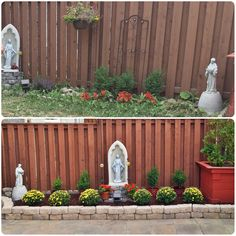 Our backyard before and after.