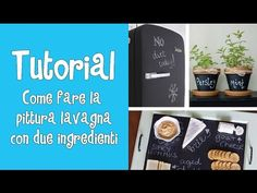 Tutorial -COME FARE LA PITTURA LAVAGNA CON DUE INGREDIENTI^^ - YouTube