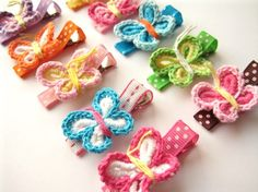 crochet butterfly thingies - love these!! Zayda needs! I bet I can figure it out just looking at them for a bit:)