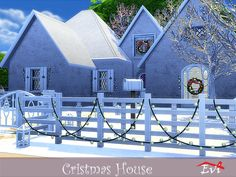 evi's Sims 4 Downloads - 'christmas' Sims 4, Content, Mansions, House Styles, Christmas, Home Decor, Xmas, Decoration Home, Manor Houses