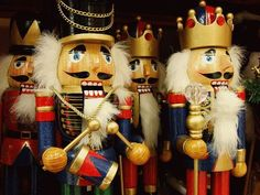 Steinbach nutcrackers...and smokers we have one for every year of our marriage and a steinbach ornament tree.  They go out for Thanksgiving and go back in their boxes into a closet before Lent. period.