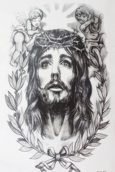 [Visit to Buy] The One Man Lord Savior Jesus with two baby Size 22 x 12cm Brand New Body Art tatoo Temporary Tattoo Exotic Sexy Tattoo #Advertisement