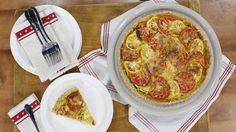 Zucchini, tomato and cheese?! We're loving this summer tart