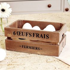 Vintage Style French Egg Crate from notonthehighstreet.com