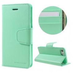 iPhone 7 mintun vihreä puhelinlompakko.