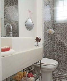 decoração banheiro pastilha - Pesquisa Google