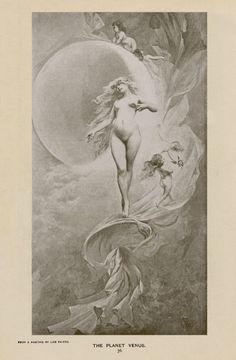 The Planet Venus by Luis Ricardo Falero 1882 litho copy