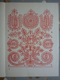 Folk Embroidery Patterns parna vintage linen and hemp: Hungarian Embroidery Kalotaszeg Hungarian Embroidery, Folk Embroidery, Learn Embroidery, Vintage Embroidery, Red Work Embroidery, Brazilian Embroidery, Chain Stitch Embroidery, Embroidery Stitches, Embroidery Patterns