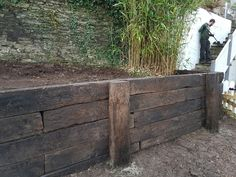 Reclaimed Railway Sleeper Retaining Wall Nick Dyson Landscaping