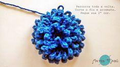 Luciana Ponzo Criações em Crochê: Flor Rococó