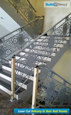 Half Wall Timber Handrail Stainless Steel Rails and Black Outdoor Handrail, Timber Handrail, Aluminum Handrail, Modern Stair Railing, Stair Spindles, Balcony Railing Design, Metal Stairs, Concrete Stairs, Outdoor Stairs