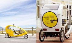 In South Africa, free-to-use electric cycle taxis are paid for by ads Mellowcabs is enabling South African citizens to travel for free in its advertising-funded and eco-friendly cycle cabs. Electric Cycle, Strategic Innovation, Paying Ads, Save The Planet, Taxi, South Africa, Cycling, Technology, Enabling