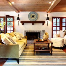 mediterranean family room by Stephanie Wiley Photography