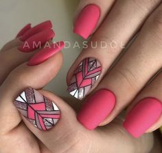 Want some ideas for wedding nail polish designs? This article is a collection of our favorite nail polish designs for your special day. Nail Polish Designs, Acrylic Nail Designs, Nail Art Designs, Bright Pink Nails, Nail Pink, Hot Pink Nails, Nail Nail, 3d Nails, Jolie Nail Art
