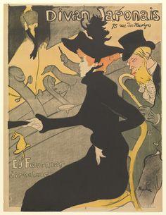 Divan Japonais,  1893, lithograph, Henri de Toulouse Lautrec, MoMA