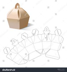 Retail box with blueprint template stock vector (royalty free) 1157628997 - Retail box with blueprint template - Cool Paper Crafts, Cardboard Box Crafts, Paper Crafts Origami, Diy Paper, Diy Gift Box, Diy Box, Paper Box Template, Box Templates, Gift Wraping