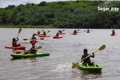Kayaking class at the lagoon