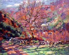 "Crozant, Solitude"", 1915 Guillaumin was a French impressionist painter and lithographer. Noted for their intense colours, Guillamin's paintings are represented in major museums around the world. He is best remembered for his landscapes of Paris, the Creuse département, and the area around Les Adrets-de-l'Estérel near the Mediterraneran coast in the Provence-Alpes-Côte d'Azur region of France."
