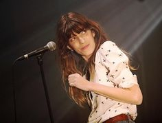 Lou Doillon on stage in Rennes